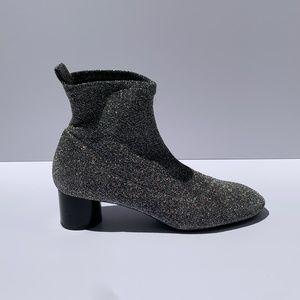 Zara Knit Glitter Booties